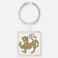 tigre shotokan Square Keychain