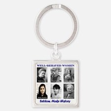 Well-Behaved Women Seldom Make His Square Keychain