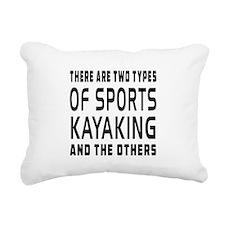 Kayaking Designs Rectangular Canvas Pillow