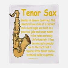 Tenor Sax Throw Blanket