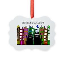 medical assistant tote cats 2 Ornament