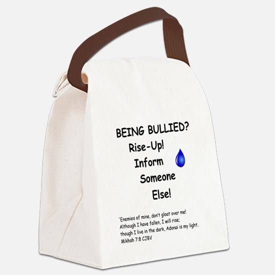 Being Bullied? Canvas Lunch Bag