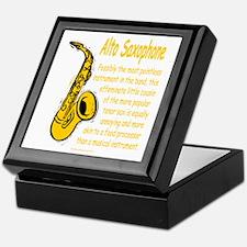 Alto Saxophone Keepsake Box