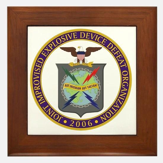 JIEDDO logo Framed Tile