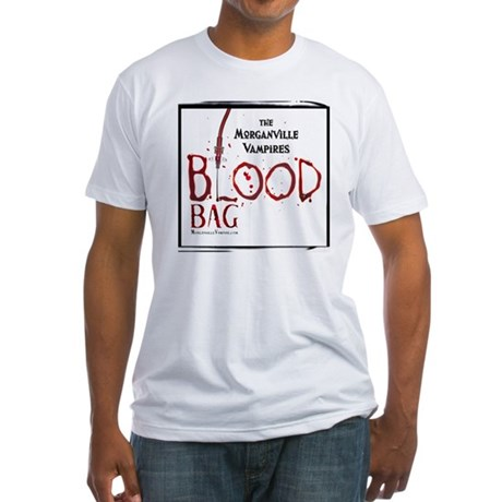 Morganville Vampires Blood Bag Fitted T-Shirt