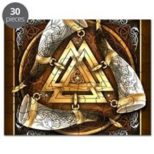 Norse Drinking Horn Valknut Puzzle