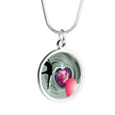 I Love to Dance Silver Round Necklace