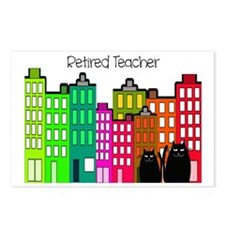 Retired Teacher Buildings Postcards (Package of 8)