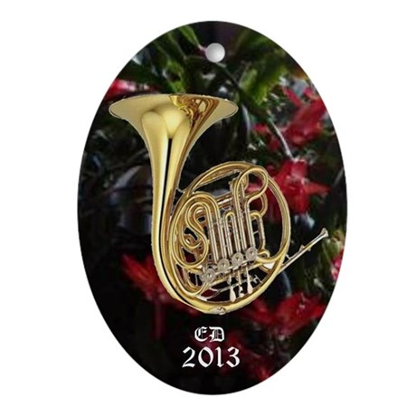French Horn Ornament (Oval)