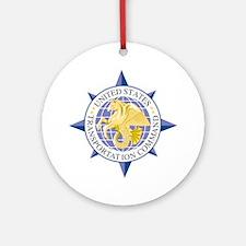 USTRANSCOM Emblem Round Ornament