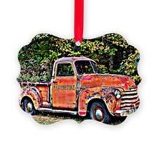 Antique Chevy Truck Crossing The  Ornament
