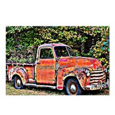 Antique Chevy Truck Cross Postcards (Package of 8)