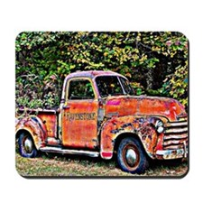Antique Chevy Truck Crossing The Color L Mousepad