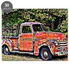 Antique Chevy Truck Crossing The Color Line Puzzle
