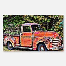 Antique Chevy Truck Crossing T Decal