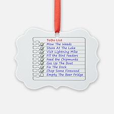 Kottage ToDo list Ornament