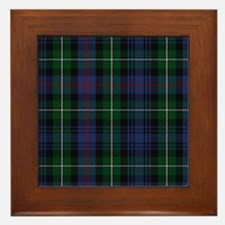 MacKenzie Tartan Shower Curtain Framed Tile