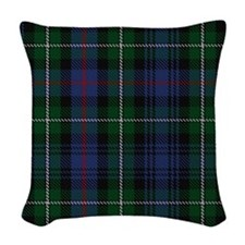 MacKenzie Tartan Shower Curtai Woven Throw Pillow