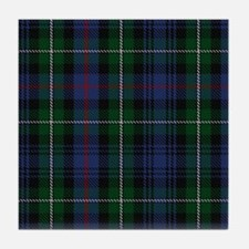 MacKenzie Tartan Shower Curtain Tile Coaster