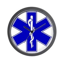 2000px-Star_of_life2 Wall Clock