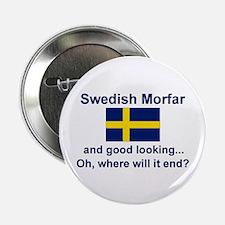 "Good Lkg Swedish Morfar 2.25"" Button"