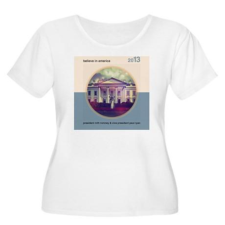 Believe In Am Women's Plus Size Scoop Neck T-Shirt
