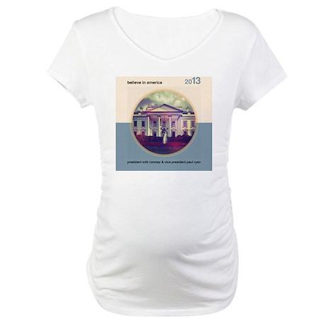 Believe In America Maternity T-Shirt