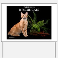 Rescue Cat Calendar Yard Sign