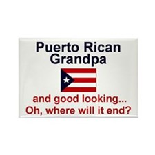 Puerto Rican Grandpa-Good Lkg Rectangle Magnet