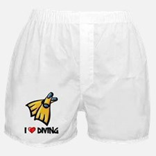 I Love Diving Boxer Shorts
