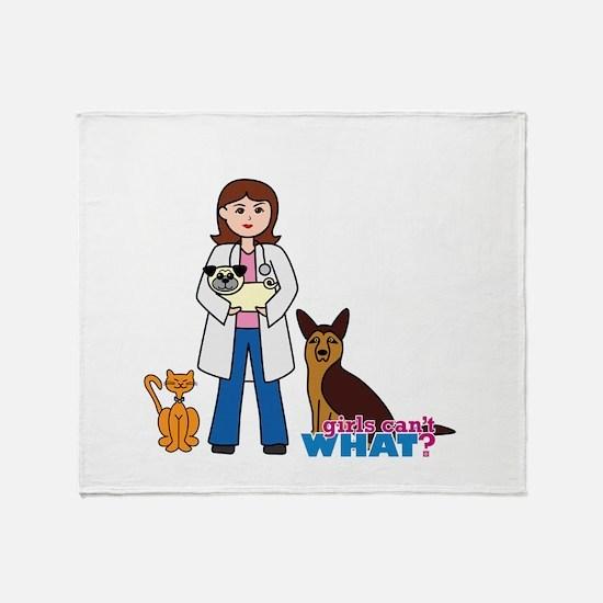 Woman Veterinarian Throw Blanket
