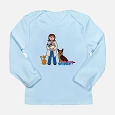 Woman Veterinarian Long Sleeve Infant T-Shirt