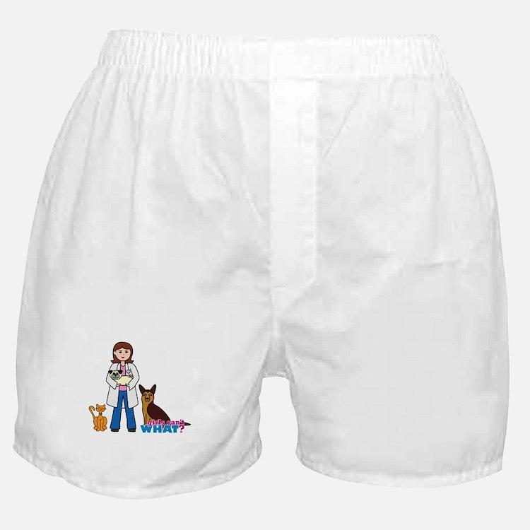Woman Veterinarian Boxer Shorts