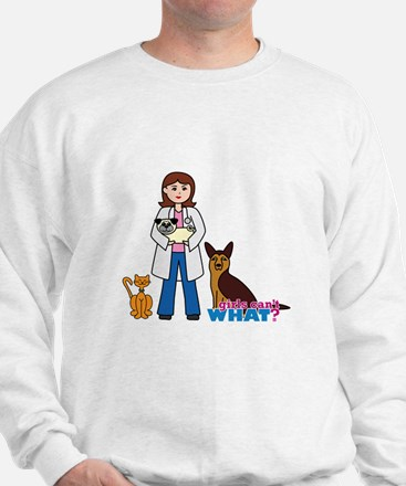 Woman Veterinarian Sweater