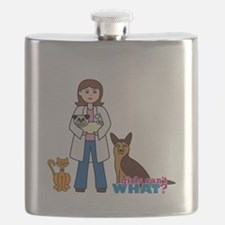 Woman Veterinarian Flask