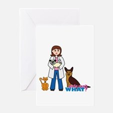 Woman Veterinarian Greeting Card