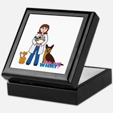 Woman Veterinarian Keepsake Box
