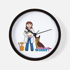 Woman Veterinarian Wall Clock