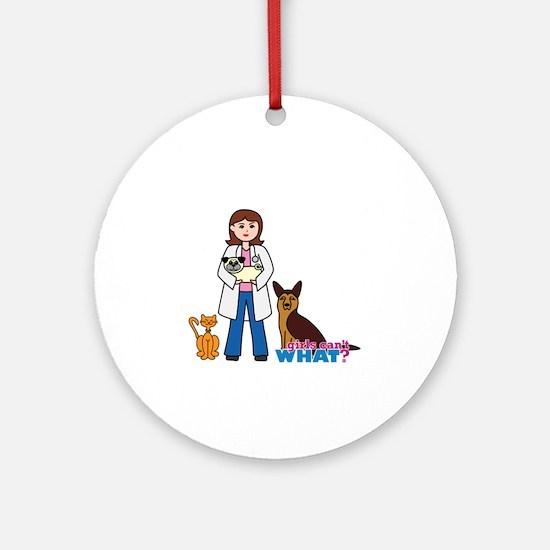 Woman Veterinarian Ornament (Round)