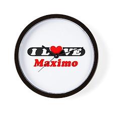 I Love Maximo Wall Clock