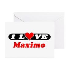 I Love Maximo Greeting Cards (Pk of 10)