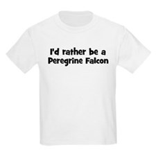 Rather be a Peregrine Falcon Kids T-Shirt