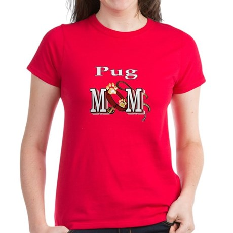 Pug Dog Mom Women's Dark T-Shirt