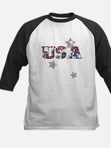 USA Pop Art Kids Baseball Jersey