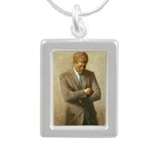 35 Kennedy Silver Portrait Necklace