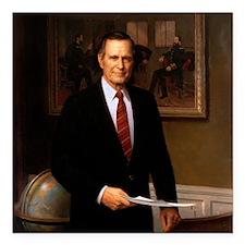 "41 George H. W. Bush Square Car Magnet 3"" x 3"""