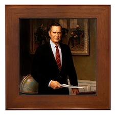 41 George H. W. Bush Framed Tile