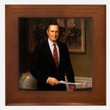41 George H. W. Bush Framed Tile