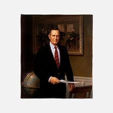 41 George H. W. Bush Throw Blanket