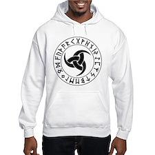 Odin Horn Shield Hoodie Sweatshirt